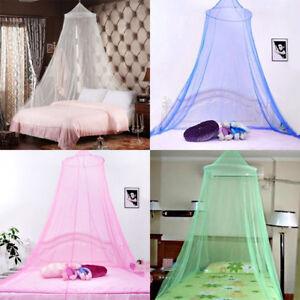 Das Bild Wird Geladen Elegante Runde Dome Lace Vorhang Insekt Bett Baldachin