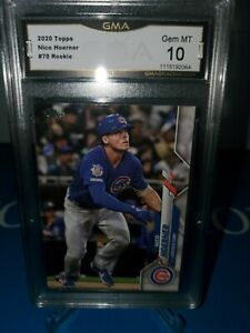 GMA-10-MINT-Nico-Hoerner-2020-Topps-Rookie-Card-CHICAGO-CUBS-ROY