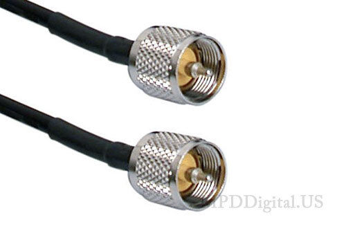 75 ft  RG8X  US Made Coaxial Jumper Cable PL259 UHF Male Connectors 75 ft