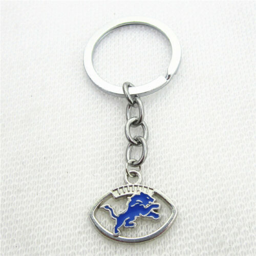 Detroit Lions Football Round Charm Charms Free Tracking Key Chain New