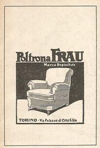 Z2456 Poltrona FRAU - Torino - Pubblicità del 1929 - Vintage ...