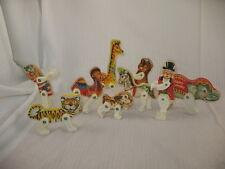 Vintage 1963 Fisher Price Junior Circus Animal Lot Elephant Tiger Clown Giraffe