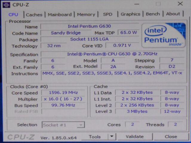 Intel Pentium G630 2 7 GHz Dual-core CPU Processor Sr05s