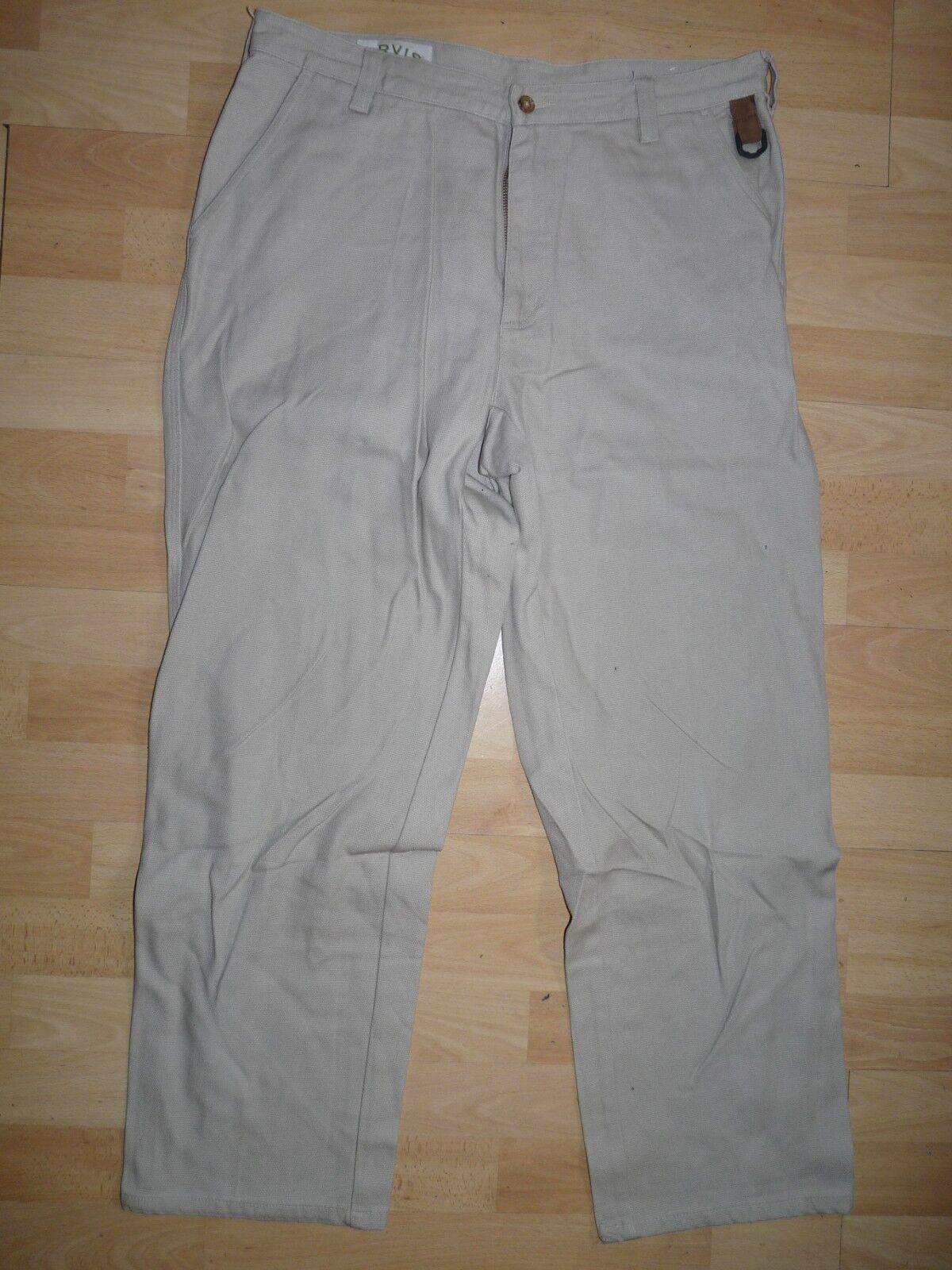 Original ORVIS Rhinohide men's canvas fishing trousers field cotton pants W34 04