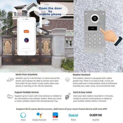 Remote Unlock WiFi IP Video Door Phone Intercom Code Keypad RFID Camera Doorbell