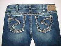 "New Silver Jeans FRANCES 18"" Bootcut Indigo Regular/ Plus ..."