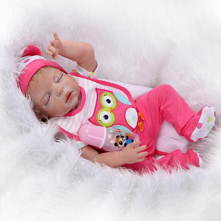 23  realistiche RINATO baby girl DOLL IN SILICONE COMPLETO VINILE bagno neonato giocattolo fatto a mano