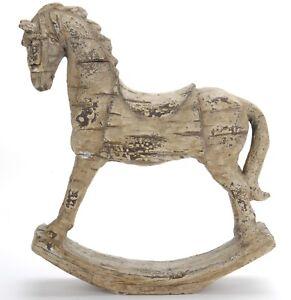 Stone Effect Decorative Rocking Horse