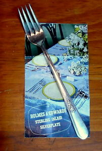 Holmes-Edwards-Dinner-Fork-Youth-Pattern-Inlaid-Silverplate-Vintage