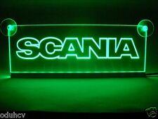 24V grün LED Innenraum Führerhaus Licht Platte für SCANIA LKW Neon Tisch Schild
