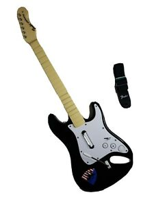Rock Band Fender Stratocaster Harmonix NWGTS2 Wii Guitar w/ Strap **NO DONGLE!**