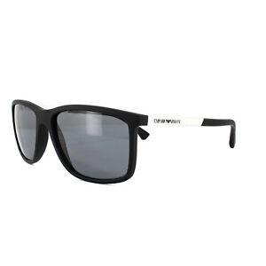 14aac6a9d1 Emporio Armani Sunglasses 4058 5063 81 Black Rubber Grey Polarized ...