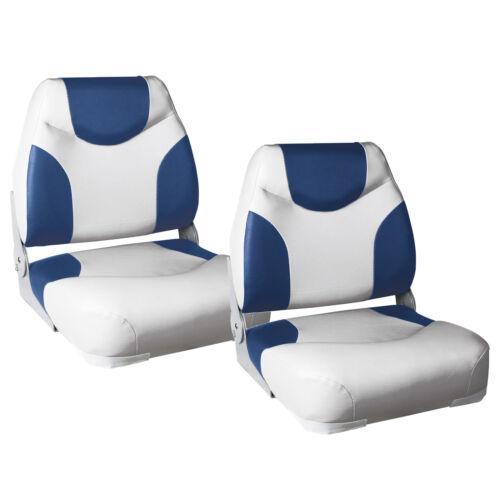 """2x Bootssitze /""""Exclusive/"""" Blau-Weiß Bootssitz Boot Sitze Kunst-Leder Steuerstuhl"""