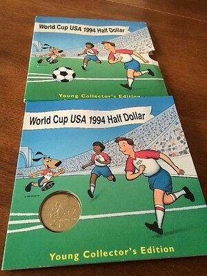 1994 World Cup USA Clad Half Dollar Coin in Young Collector/'s Edition Package
