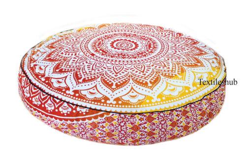 "New 35/"" Indian Handmade Mandala Floor Cushion Cover Pillow Round Home Decorative"