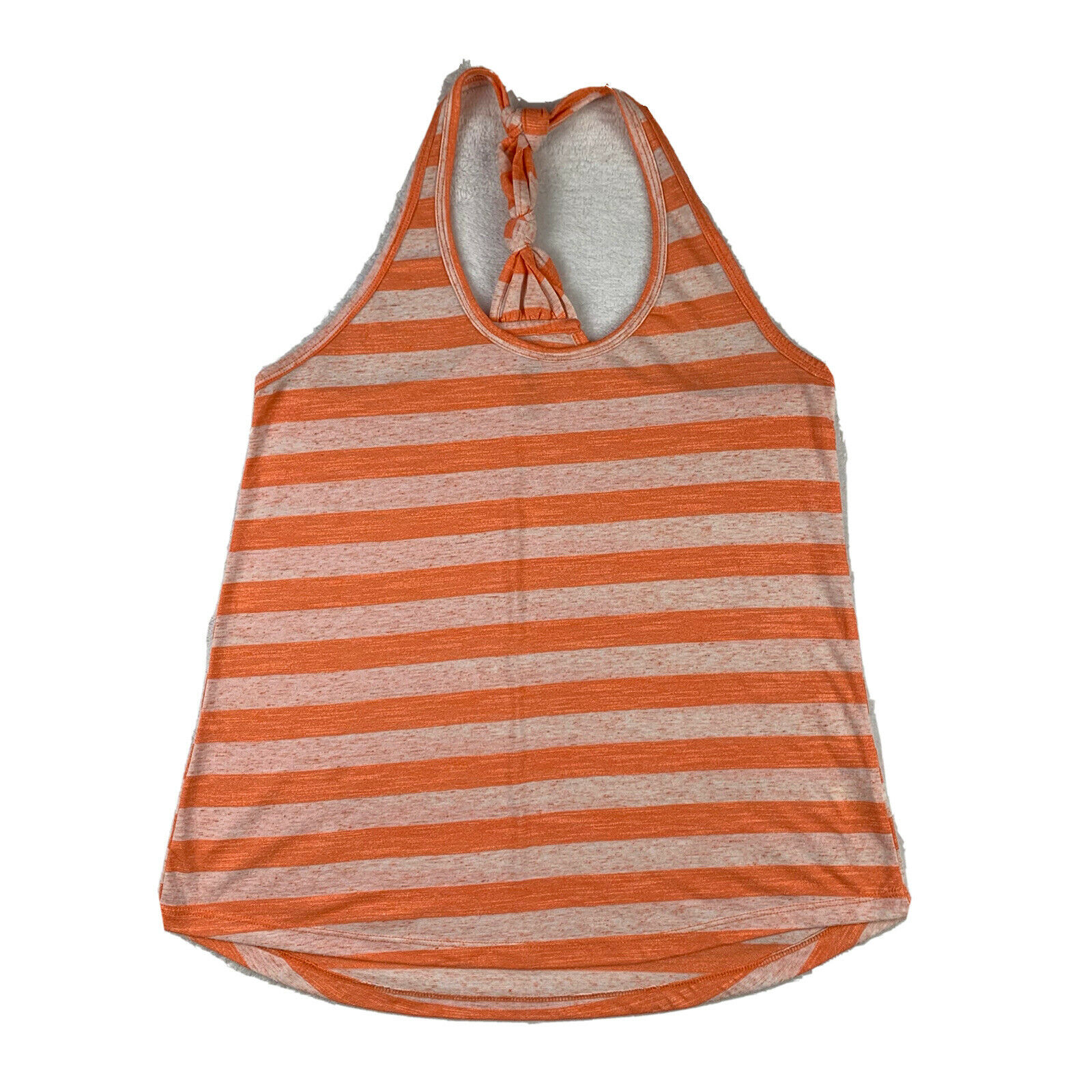 Balance Collection Tank Top Women Small Orange Striped Racerback Athletic Gym