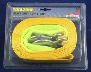 """Toolzone Emergency Tow Strap 6m x 2"""" with Hooks 3 Ton"""