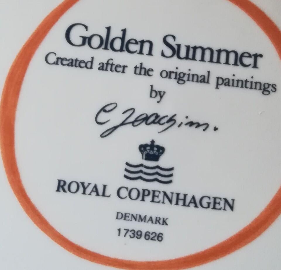 Fajance, Tallerken 26 cm., Golden summer / gylden sommer