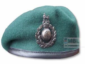ROYAL-MARINES-COMMANDO-GREEN-BERET-amp-OFFICIAL-CAP-BADGE-RM-SBS-SAS-53-to-62cm