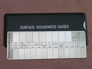 Details about Surface Roughness Comparator Gage (Brand New)