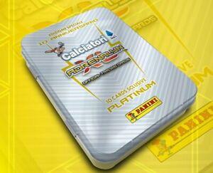TIN-BOX-PLATINUM-ARGENTO-CARDS-ADRENALYN-XL-CALCIATORI-PANINI-2019-20-EDICOLA