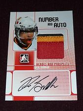 08-09 ITG Heroes & Prospects P.K. SUBBAN 3CLR Number Auto PRE-RC 9/9 1/1 RARE!!!