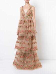 08daf541 Image is loading 1195-NEW-MARCHESA-NOTTE-Floral-Embroidered-V-Neck-