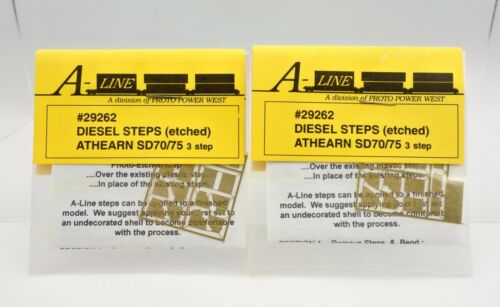 LOT OF 2 A-LINE 29262 DIESEL STEPS (ETCHED) ATHEARN SD70/75-DC