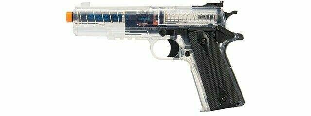 Colt 1911 Target Airsoft Pistol Plastic Clear W Magazine For Sale Online Ebay