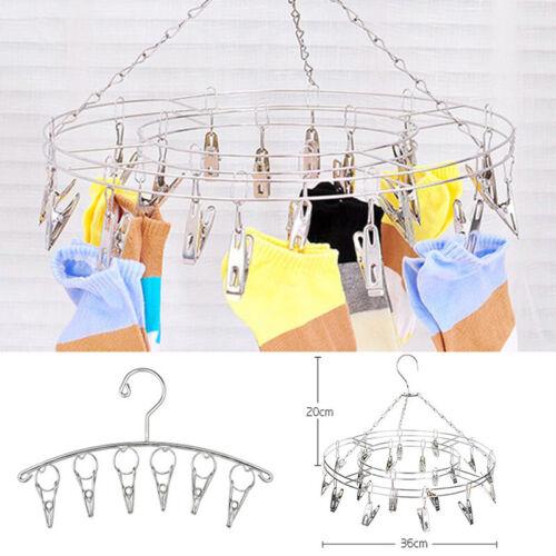 20//6 Clips Clothes Sock Short Underwear Hanger Drying Rack Laundry Hanger NEW