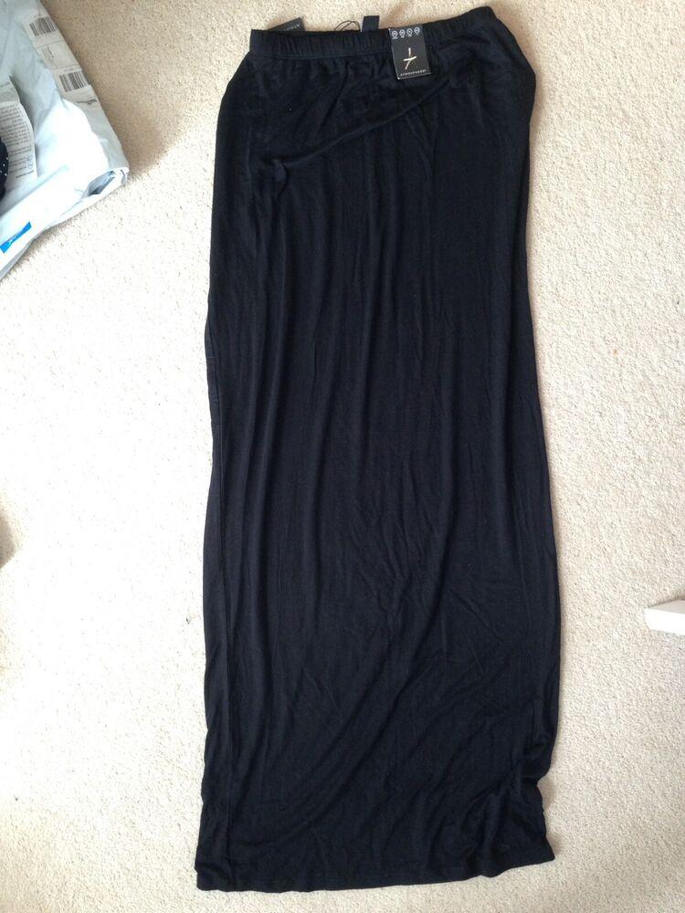Atmosphere Noir Jupe Longue Taille 10