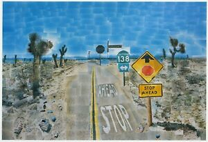 Pearblossom-Hwy-California-David-Hockney-print-in-11-x-14-mount-ready-to-frame