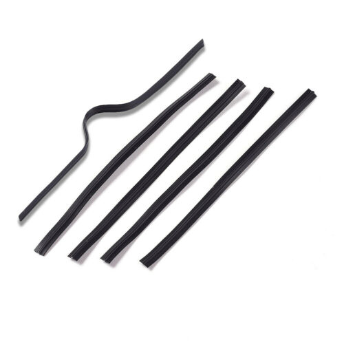 100pcs Flexible PE Plastic Wires Bendable Twist Ties Single Core Black 80x4mm