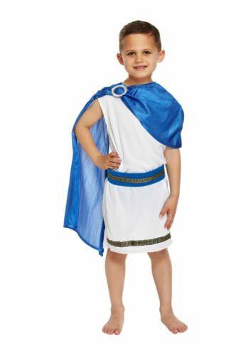 Ragazzi Ragazze ROMANA GRECA Generale Cesare Gladiatore Toga araba Libro Giorno Costume Bambini