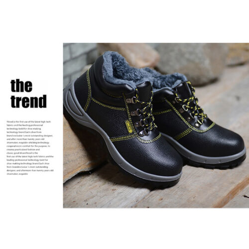 Men/'s Safety Boots Waterproof Leather Work Shoes with Steel Toecap Midsole