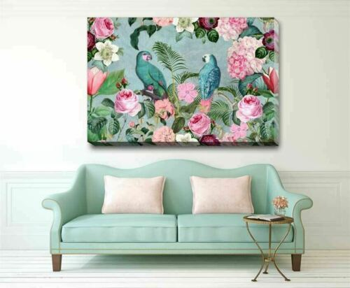 Jungle Rendezvous Stretched Canvas Print Framed Wall Art Hanging DIY Decor F107