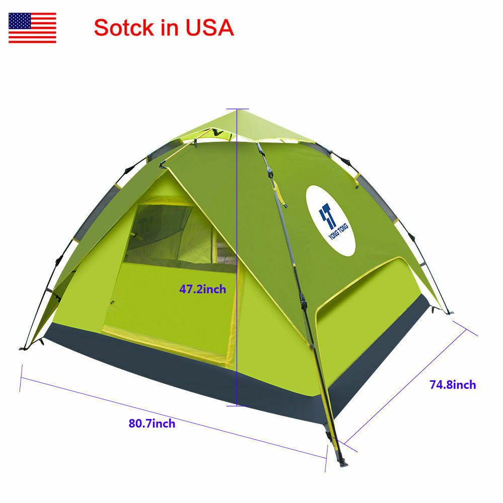 4-5  People Popup Camping Grass Green Tent Trap General Use Waterproof For Hiking  check out the cheapest