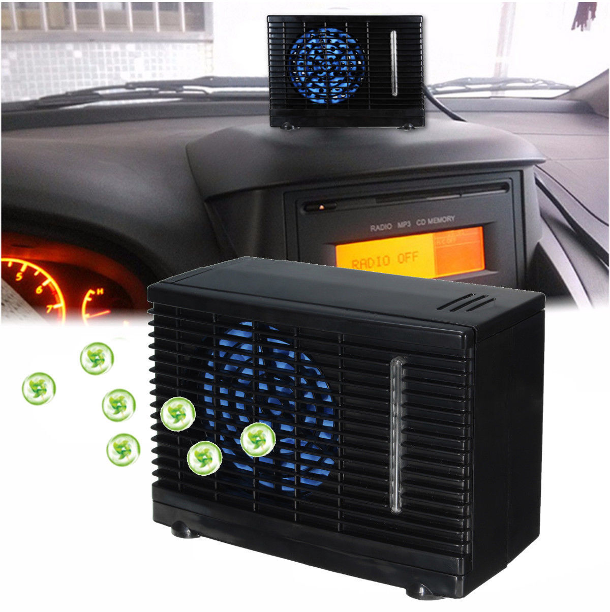 12v Portable Evaporative Mini Air Conditioner Home Car