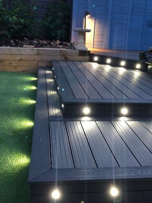 Wood Plastic Composite Deck Boards In Graphite Grey The Uk S Top Value 12 99 Ebay