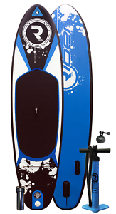 SUP Medium Inflatable Stand Up Paddle Board 10.2ft - Accessories - bluee - Riber