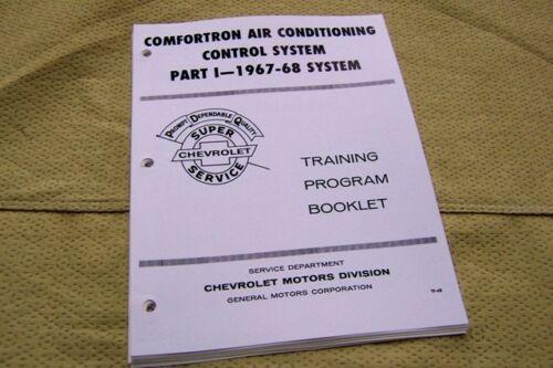 67 68 Chevy Comfortron AC Air Impala Manual Guide RARE freon R12