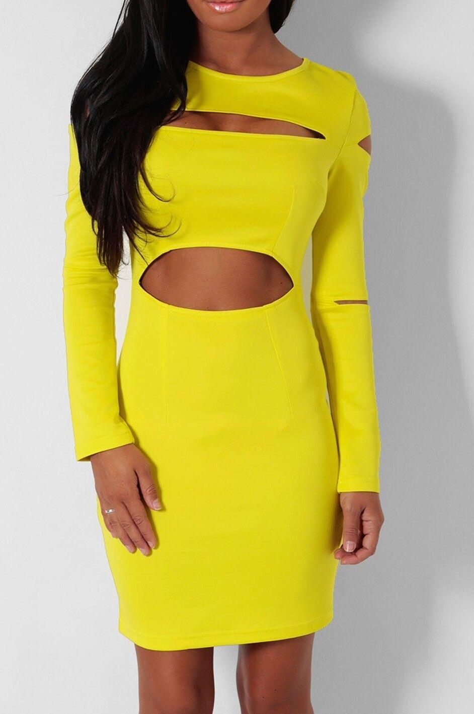 ☞ Boutique   sexy cut out   bodycon celeb dress   8 10 12 14