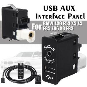 12-Pin-AUX-USB-Interface-Panel-per-BMW-Mini-Cooper-E39-E53-X5-Z4-E85-E86-X3-E83