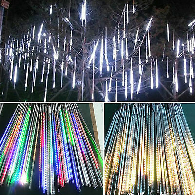 20/30/50M Meteor Shower Icicle Shower Lights Dropping Curtain String Home Garden