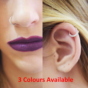Tiny Thin Silver 0 8 Gold Rose Gold 8mm Tribal Septum Ring Hoop
