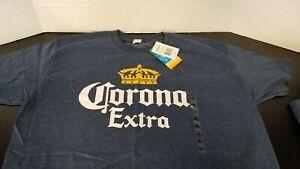 Corona-Extra-Men-039-s-XL-T-Shirt-Blue-Licensed-Beer-Merch-Bar-Brewing
