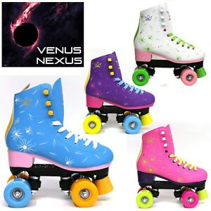 Kingdom-GB-Venus-Nexus-Quad-Roller-Skates-Disco-Girls-Womens-Retro-Derby-Skates