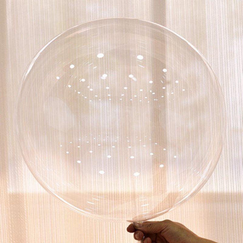Transparent Ballons 50Pcs PVC Bulle Sans Rides Anniversaire Mariage Fête Décoration