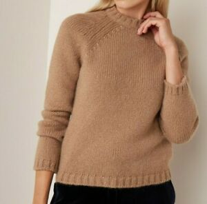 Weekend-Max-Mara-Saturno-Camel-Cashmere-Yarn-Jumper-Size-XS-New-With-Tags