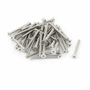 M5x50mm-Stainless-Steel-Hex-Socket-Flat-Head-Countersunk-Bolts-Screw-50Pcs